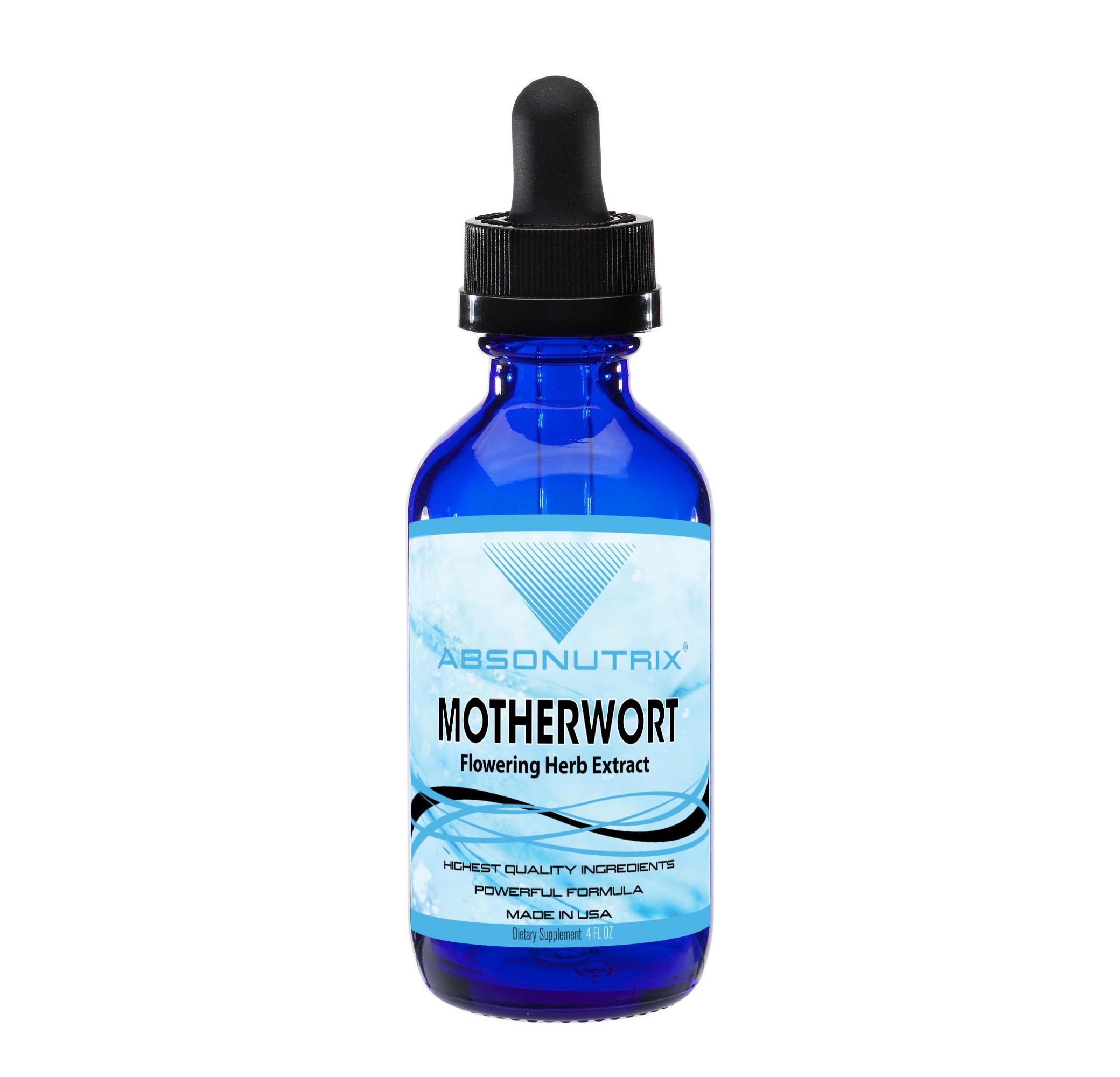 Absonutrix Motherwort Flowering Herb Extract | 4 oz Big Bottle 120 Days Supply