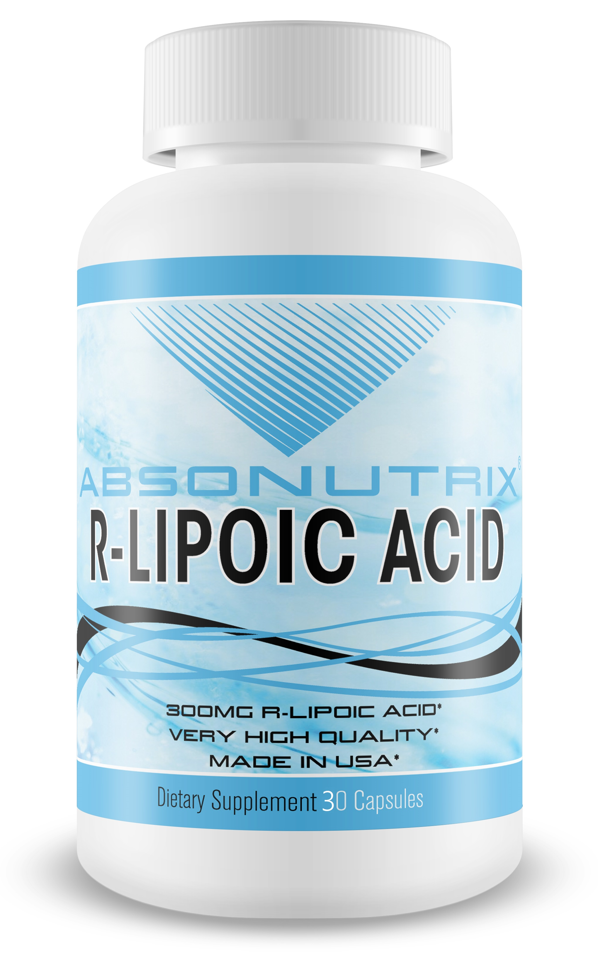 Absonutrix R-Lipoic Acid 600 mg Antioxidant Made in USA 30 capsules