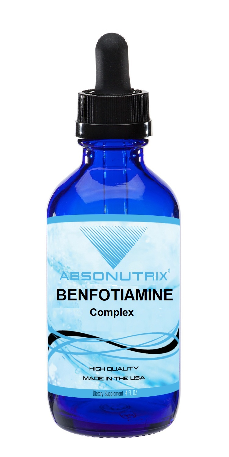 Absonutrix Benfotiamine complex 300mg helps supports heart and body 4 Fl Oz